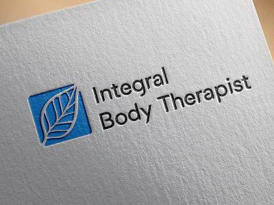 Logo leave therapy logotype logo