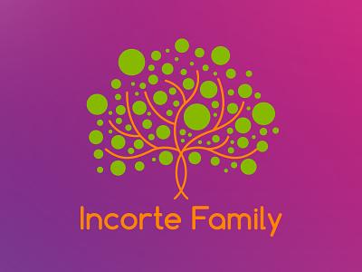 Incorte family logo leave therapy logotype logo