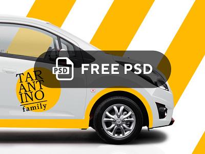 FREE Car Mockup psd download psd file psd free template mock-up mock up car ravon