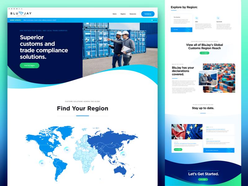BluJay Solutions - Customs designzillas web design customs logistics website