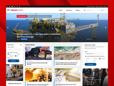 AAA Newsroom news dashboard articles newsroom news platform website design aaa
