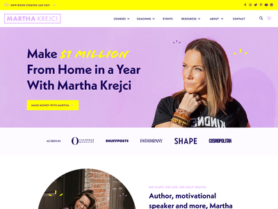 Martha Krejci - Mompreneur & Motivational Speaker ux motivation author speaker web design