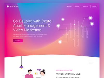 vueworx ui illustration website web design