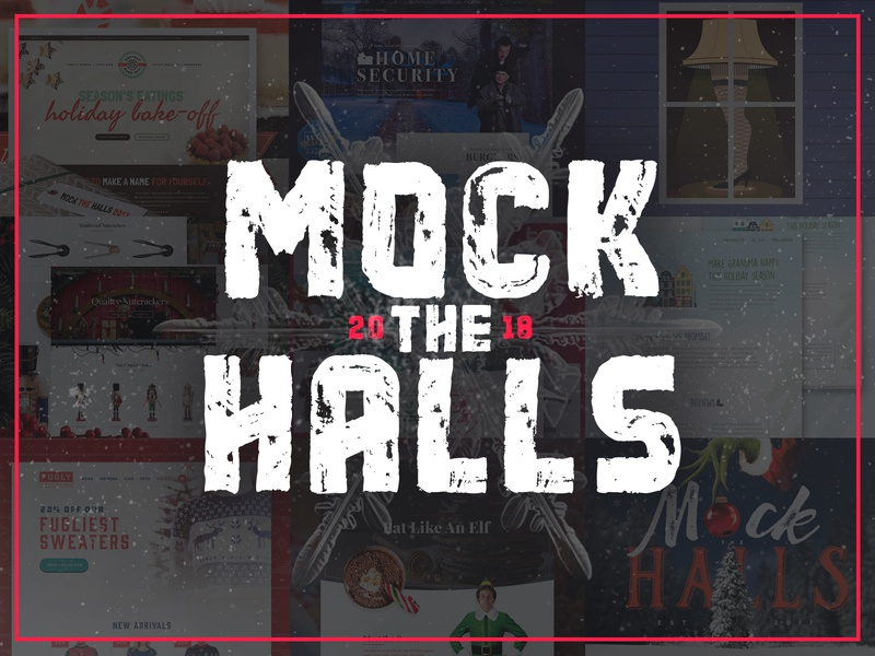 Mock The Halls 2018 Design Challenge mockups branding website design winter happy hollidays christmas design challenge designzillas mock the halls