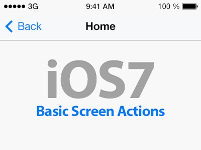 iOS7 Basic Screen Action