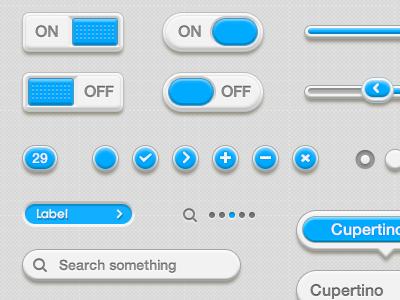 BullzGumCandy UI Elements Preview bullz gum ui user interface nose blue cream