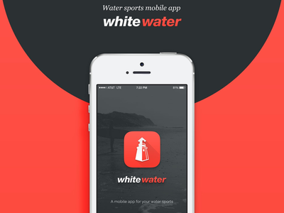 White Water App UI - P1 tracker track material icon user interface design ui sport surf water