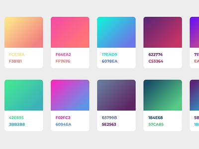 Color Scheme Rebound (by Alexander Zaytsev) design ui app colors illustrator gradient swatches scheme