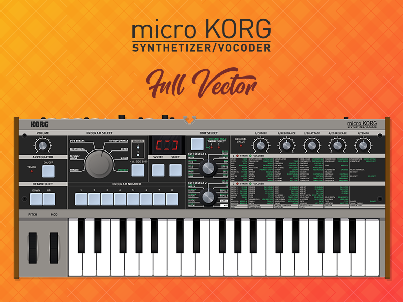 MicroKorg Full Vector by BullzArtDesign on Dribbble