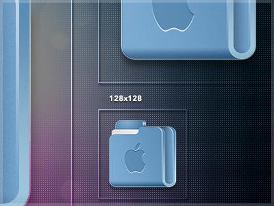 iOS Lion Folder Icon icon folder lion moutain ios iphone desk ui bullz