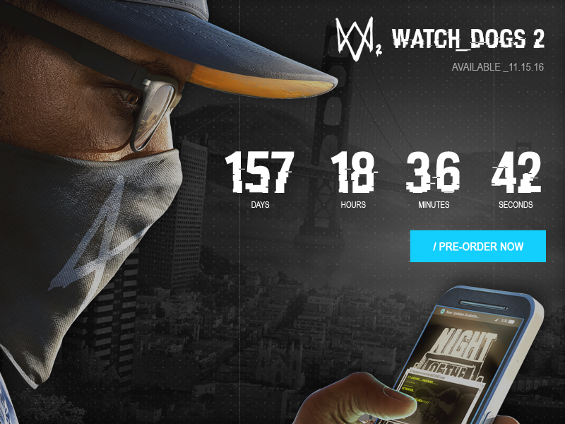 Daily UI #014 / Countdown Timer pre order video games watch dogs countdown timer daily ui timer countdown 014 ui
