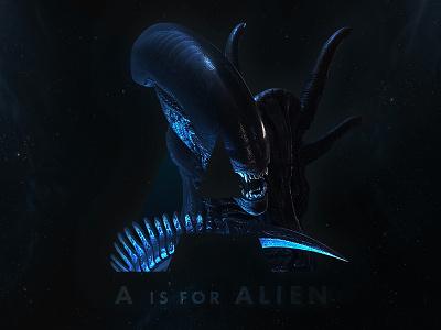 A Is For Alien a is for dark space xenomorph alien
