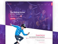 Concert Streaming Homepage Design