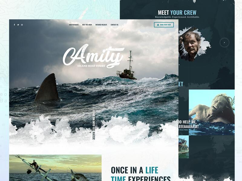 Amity Island Boat Tours horror shark website amity tour boat jaws mocktober