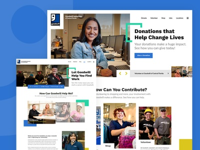Goodwill Industries of Central Florida designzillas service community charity volunteer donate goodwill redesign website
