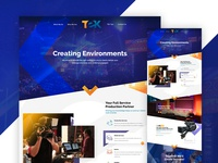 Tek Productions Website Redesign