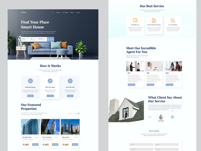 Real-Estate landing page donate healthcare homepage dental care business  agency landing page rental luxury house landing page insurance landing page ddsign food landing page doctor agency animation business doctors landing page agency landing page real- estate landing page furniture landing page home landing page property landing page