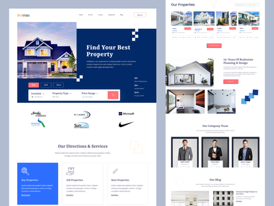 Real- estate landing page website home page branding real-estate logo real-estate agent logo real-estate agency brand identify branding design furniture landing page furniture ui graphic design clean rent property real-estate website design real-estate landing page