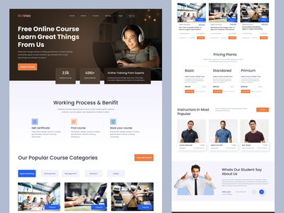 E-learning landing page business design doctor furniture landing page agency landing page ui logo graphic design online education web classroom ui design online course education learning teaching education website education platfrom online learning elearning landing page