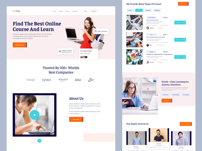 E-learning landing page doctor logo agency landing page furniture landing page design tutor online course elearning education website online education graphic designonline course ui design teaching education platfrom online learning elearning website elearning landing page
