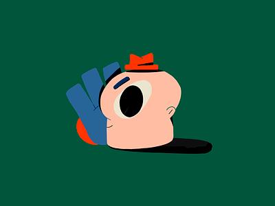 Just a Head color charachter animation design illustration