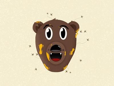 Honey bear texture animal bee honey bear