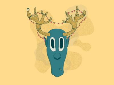 Party moose! bird design party moose illustration