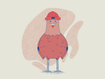Pigeon hipster texture sketch animal art design hipster animal procreate illustration character design pigeon 2d