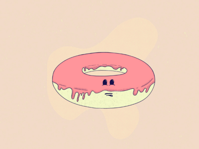 🍩 candy land sugar donut texture character design