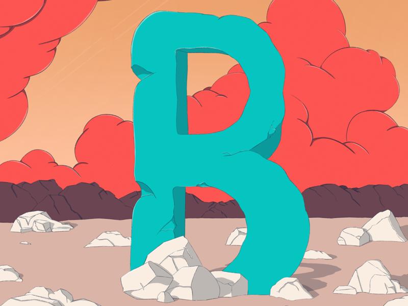 B dessert letter b type texture illustration design 36daysoftype07 36daysoftype