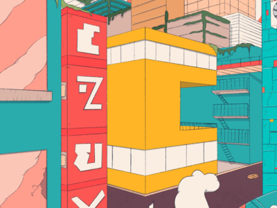 C city 2d lettering letter c design texture 36daysoftype07 36daysoftype illustration