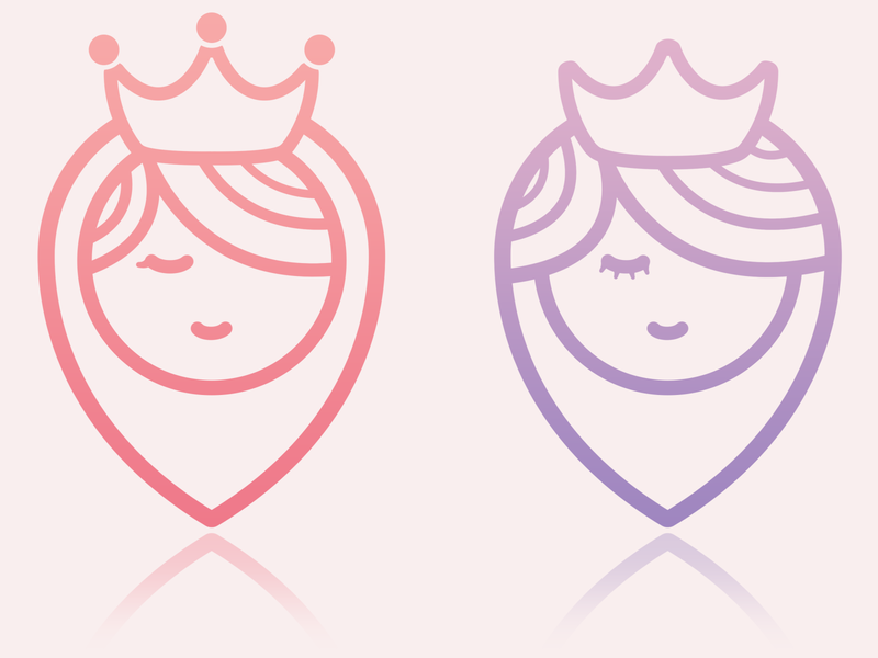 Royal Looks Logo minimal design logo icon illustration