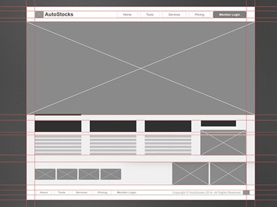 Website Wireframe (Homepage) wireframe website html5 css3 frontend