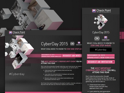 Check Point Cyberday 2015 Landing Page marketo html5 mobile page landing website responsive