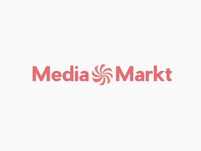 MediaMarkt (Redesign) illustrator rebrand branding caramel red mediamarkt markt media redesign logo design logotype logo