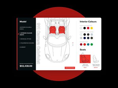 Product card Porsche 911. porsche 911 figma car branding ui  ux design