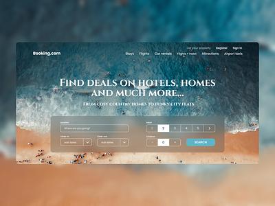 Landing Page | Booking booking ui  ux redesign design landing page