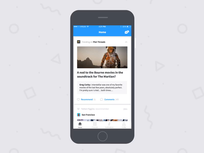 Disqus for iOS app interface ui type minimal clean mobile app product design motion animation ios uxui ux mobile