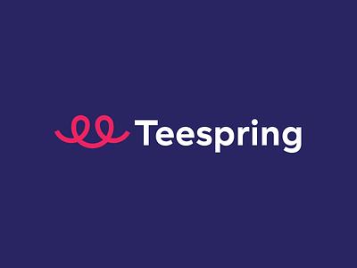 Teespring Rebrand logotype rebrand modern web vector brand ui design logo type minimal clean typography branding