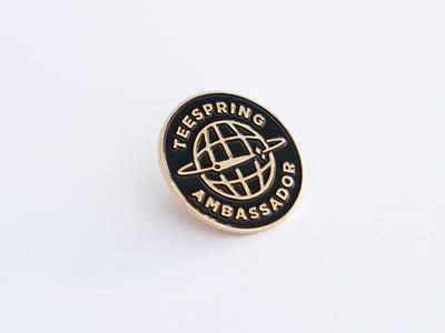 Teespring Ambassador Pin swag merch enamelpin enamel pin icon brand type logo branding typography minimal clean