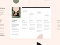 User Journey/Persona Figma Template design branding download resource ui user journey auto layout typography type clean minimal free product design user experience ux figma template