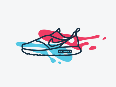 New Shoes 4th of july swoosh logo brand icon line minimal clean illustration nike shoes