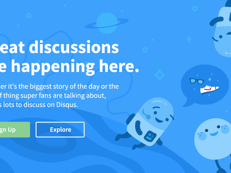 """""""That's no moon..."""" character cute blue minimal website typography clean astronaut space illustration"""