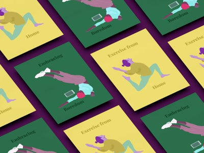 Poster Design boredom embrace exercise work from home poster artwork poster poster design visual design digital illustrator graphics digital design artwork art digital art illustration art illustration illustrator digital illustration design graphic design