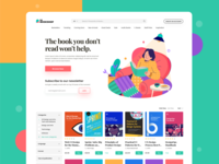 Web UI - Books Website app type web ui-ux ux ui product light mode design color