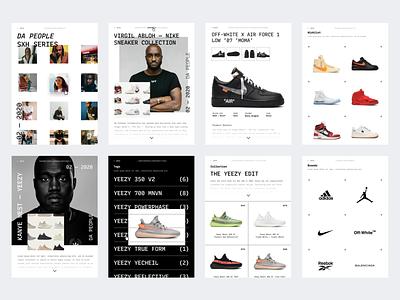 Web UI - Sneakers store Website website exploration clean colors type app responsive mobile web ux ui-ux ui product design