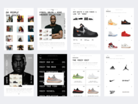 Web UI - Sneakers store Website website exploration clean colors type app responsive mobile web ux ui-ux ui product design