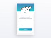 Login Page - Porpoise app iOS