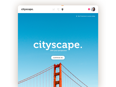Cityscape Web UI tablet ios web ux ui interface flat design app