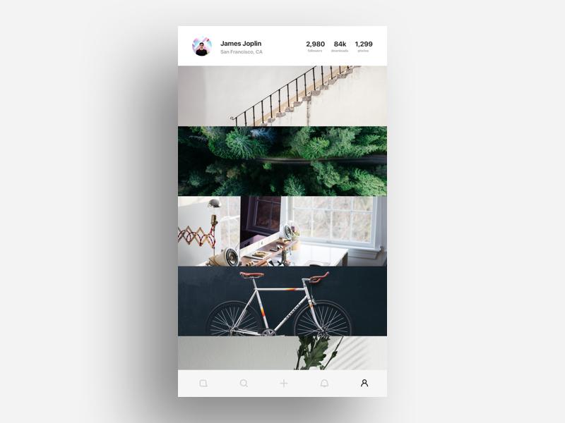 Profile Page UI design web ios flat graphic mobile interface ux ui app